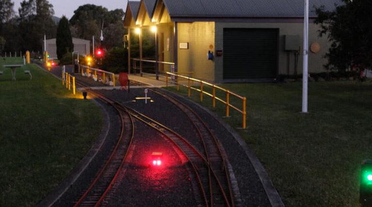Penwood Railroad at night