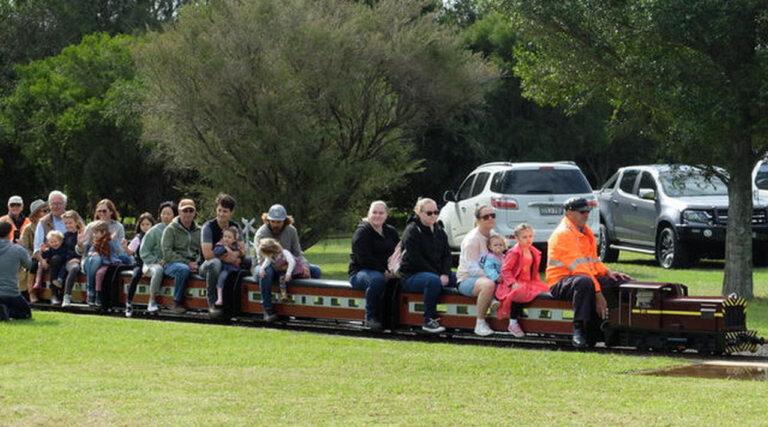 Miniature train ride at Penwood Railway